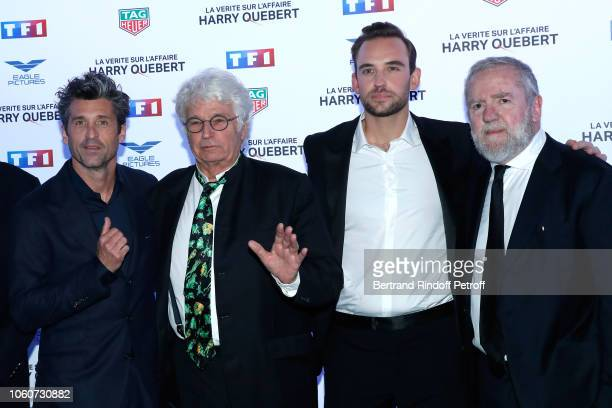 Actor of the series Patrick Dempsey, Director of the series Jean-Jacques Annaud, Autor of the series Joel Dicker and Producer Fabio Conversi attend...