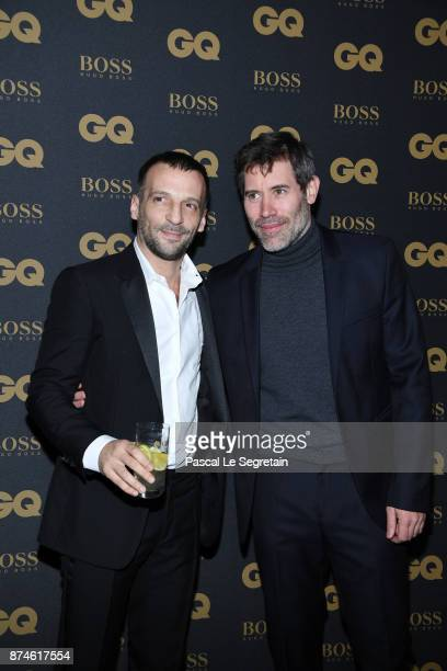 Actor of the year Mathieu Kassovitz and Jalil Lespert attend GQ Men Of The Year Awards 2017 at Le Trianon on November 15 2017 in Paris France