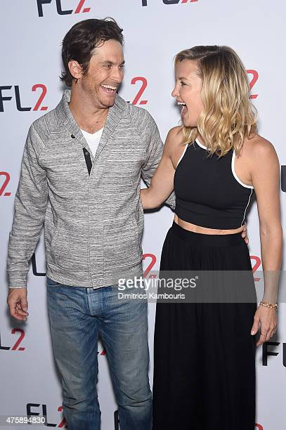 Actor Oliver Hudson and actress and cofounder of Fabletics Kate Hudson attend the FL2 Launch on June 4 2015 in New York City