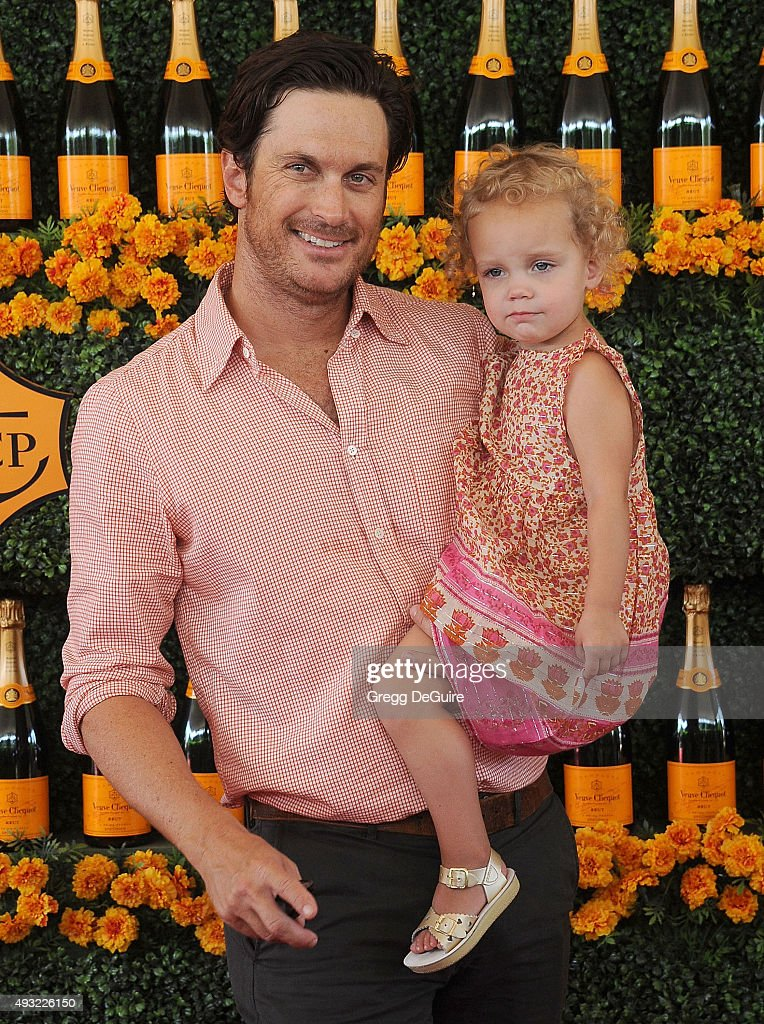 Actor Oliver Hudson and daughter Rio Hudson arrive at the Sixth-Annual Veuve Clicquot Polo Classic, Los Angeles at Will Rogers State Historic Park on October 17, 2015 in Pacific Palisades, California.