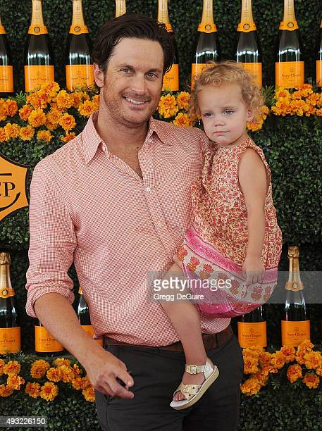 Actor Oliver Hudson and daughter Rio Hudson arrive at the SixthAnnual Veuve Clicquot Polo Classic Los Angeles at Will Rogers State Historic Park on...