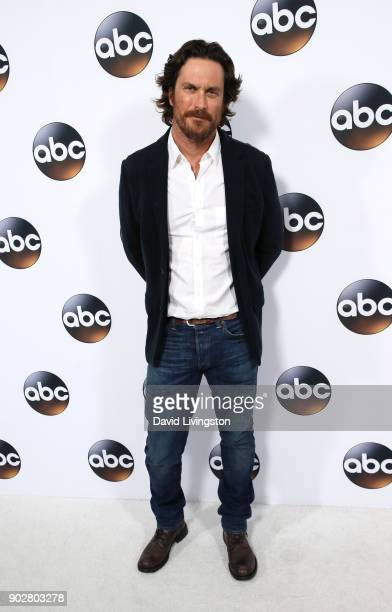 Actor Oliver Hudson attends Disney ABC Television Group's TCA Winter Press Tour 2018 at The Langham Huntington Pasadena on January 8 2018 in Pasadena...