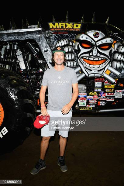 Actor Oliver Hudson attends Monster Jam at STAPLES Center on Saturday August 18 2018 in Los Angeles CA