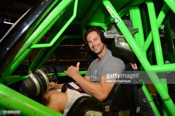 Actor Oliver Hudson attends Monster Jam at STAPLES Center on Saturday August 18 2018 in Los Angeles CAa