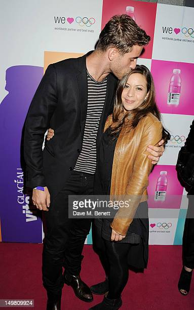 Actor Oliver JacksonCohen and guest arrive as Glaceau vitaminwater presents 'Jessie J Live In London' at The Roundhouse on August 4 2012 in London...