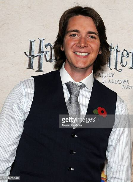 Actor Oliver Phelps arrives at the Harry Potter and the Deathly Hallows Part 2 Celebration at Universal Orlando on November 12 2011 in Orlando Florida