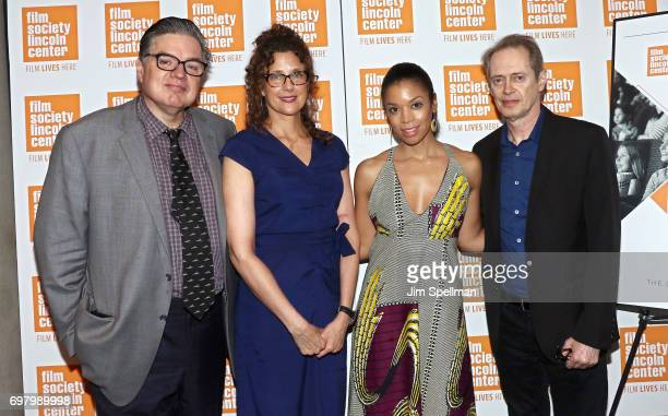 Actor Oliver Platt filmmaker Rebecca Miller actors Susan Kelechi Watson and Steve Buscemi attend an Evening for Film in Education hosted by the The...