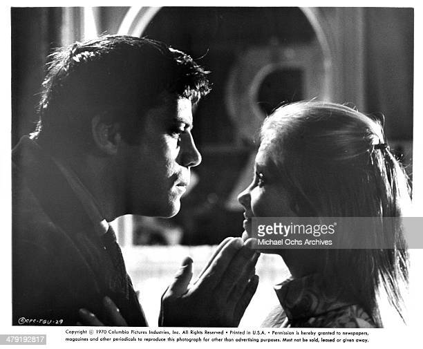 Actor Oliver Reed and actress Hayley Mills in a scene from the Columbia Picture movie Take a Girl Like You circa 1970