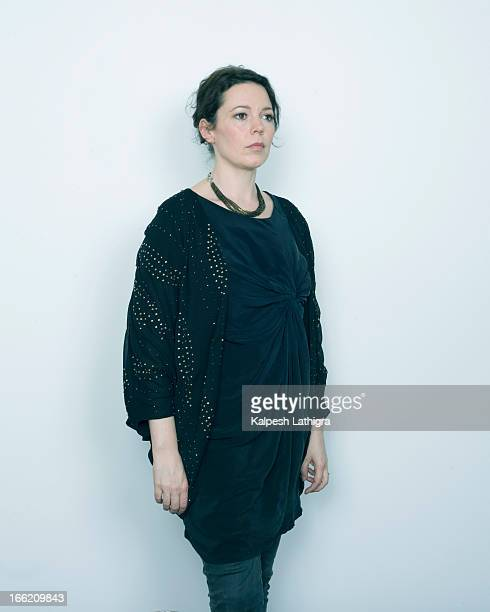 Actor Olivia Colman is photographed for the Independent on January 30 2013 in London England