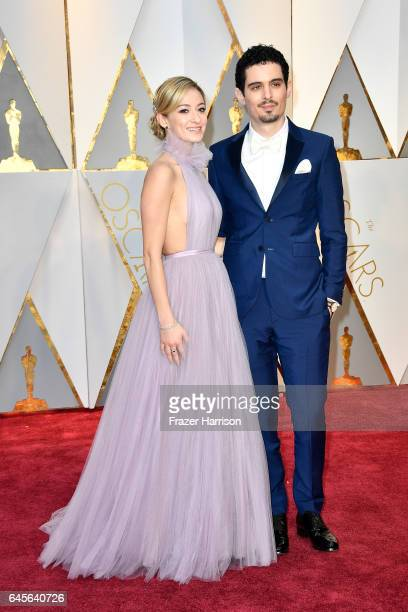Actor Olivia Hamilton and director Damien Chazelle attend the 89th Annual Academy Awards at Hollywood Highland Center on February 26 2017 in...