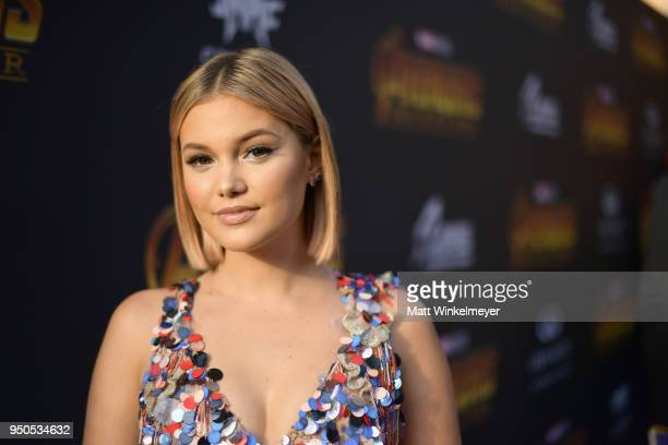 Actor Olivia Holt attends the Los Angeles Global Premiere for Marvel Studios' Avengers Infinity War on April 23 2018 in Hollywood California
