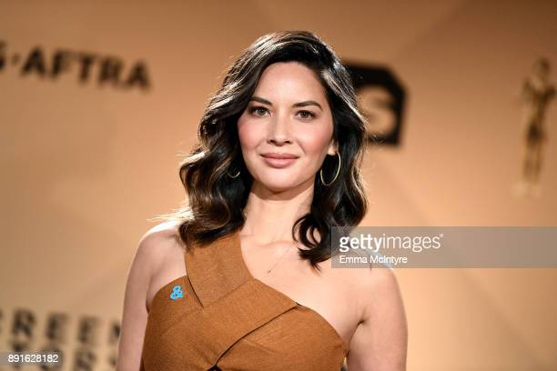 Actor Olivia Munn at the 24th Annual Screen Actors Guild Awards Nominations Announcement at Silver Screen Theater on December 13 2017 in West...