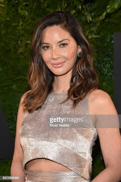 Actor Olivia Munn attends the 2018 AE Upfront on March 15 2018 in New York City