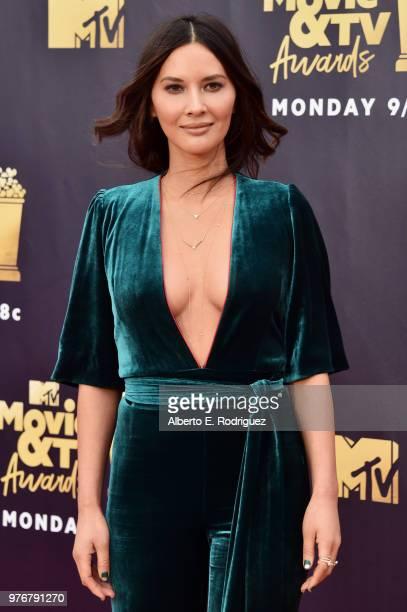Actor Olivia Munn attends the 2018 MTV Movie And TV Awards at Barker Hangar on June 16 2018 in Santa Monica California