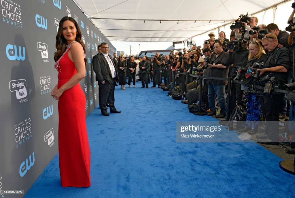 Actor Olivia Munn attends The 23rd Annual Critics' Choice Awards at Barker Hangar on January 11, 2018 in Santa Monica, California.