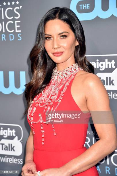 Actor Olivia Munn attends The 23rd Annual Critics' Choice Awards at Barker Hangar on January 11 2018 in Santa Monica California