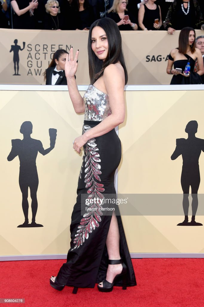 Actor Olivia Munn attends the 24th Annual Screen ActorsGuild Awards at The Shrine Auditorium on January 21, 2018 in Los Angeles, California.