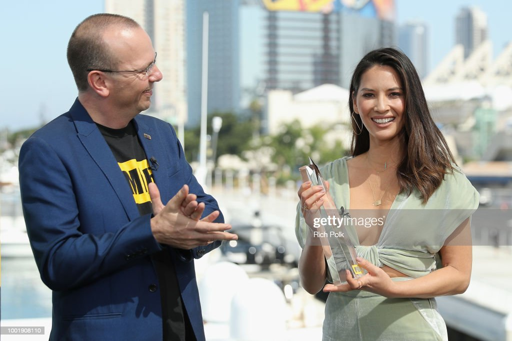 "Olivia Munn Receives The IMDb ""Fan Favorite"" STARmeter Award On The #IMDboat At San Diego Comic-Con 2018"