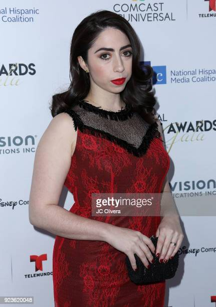 Actor Olivia Sandoval attends the 21th Annual National Hispanic Media Coalition Impact Awards Gala at Regent Beverly Wilshire Hotel on February 23...