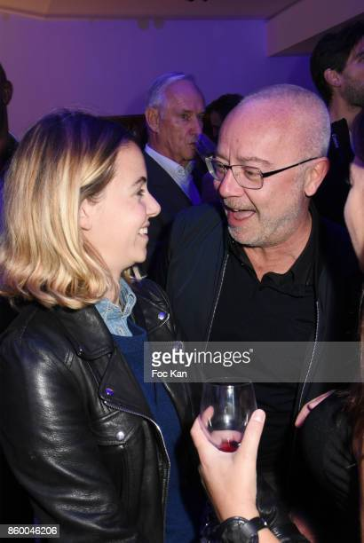 Actor Olivier Baroux and his daughter Enya Baroux attend Jaguar EPace Launch Party at Studio Acacias on October 10 2017 in Paris France