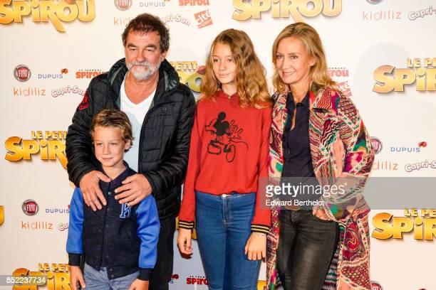 Actor Olivier Marchal attends the 'Le Petit Spirou' Paris Premiere at Le Grand Rex on September 10 2017 in Paris France