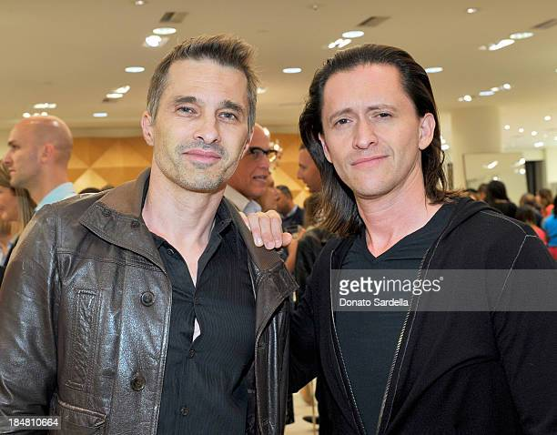 Actor Olivier Martinez and Clifton Collins Jr attend a cocktail event in support of HOLA Heart of Los Angeles hosted by Barneys New York Simon Doonan...