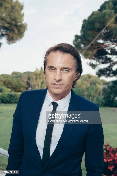 Actor Olivier Martinez is photographed for Paris Match whilst attending the Amfar Gala at the Eden Roc Hotel on May 25 2017 in Antibes France