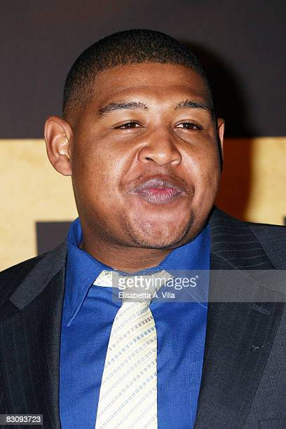 Actor Omar Benson Miller attends Miracle At St Anna premiere at Warner Moderno Cinema on October 2 2008 in Rome Italy