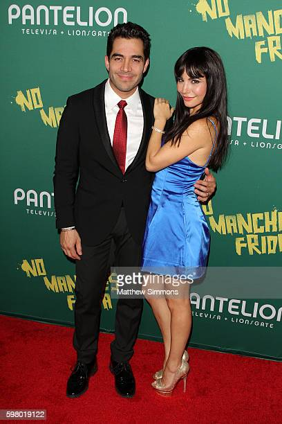 Actor Omar Chaparro and actress Martha Higareda attend the premiere of Pantelion Films' No Manches Frida at Regal LA Live Stadium 14 on August 30...