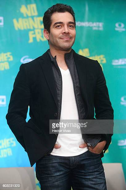 Actor Omar Chaparro poses for pictures during a press conference to present the movie No Manches Frida at The St Regis on September 12 2016 in Mexico...