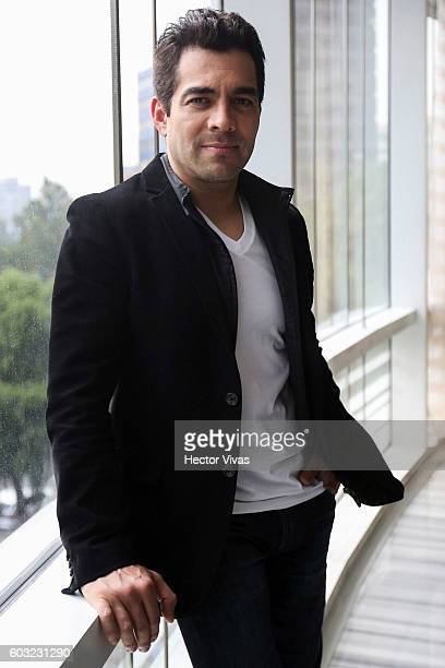 Actor Omar Chaparro poses for pictures prior a press conference to present the movie No Manches Frida at The St Regis on September 12 2016 in Mexico...
