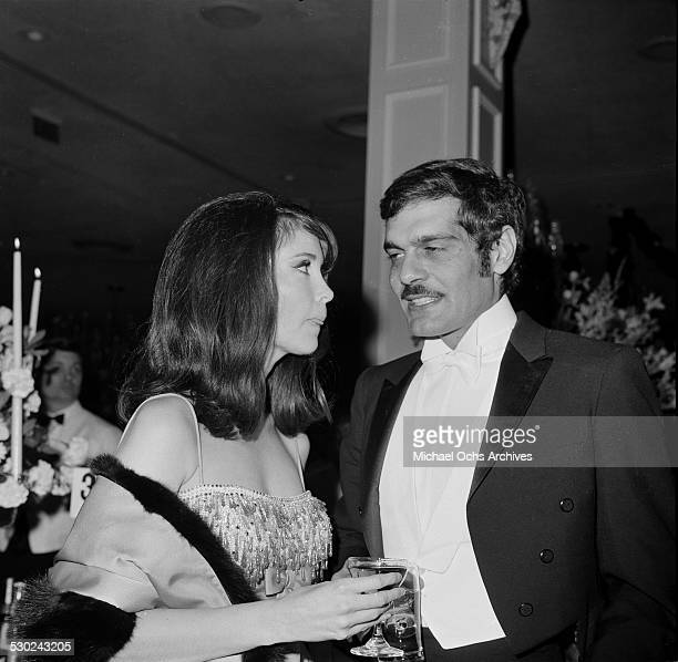 Actor Omar Sharif and actress Anjanette Comer attend an event in Los AngelesCA
