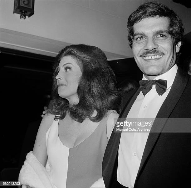 Actor Omar Sharif and actress Gayle Hunnicutt attend an event in Los AngelesCA