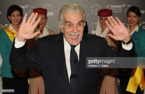 Actor Omar Sharif attends the Cartagena premiere during day six of the 6th Annual Dubai International Film Festival held at the Madinat Jumeriah...