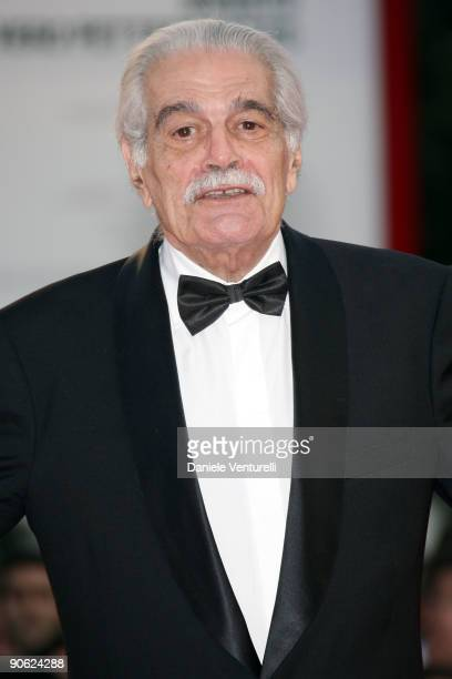 Actor Omar Sharif attends the Closing Ceremony Red Carpet And Inside at The Sala Grande during the 66th Venice Film Festival on September 12 2009 in...