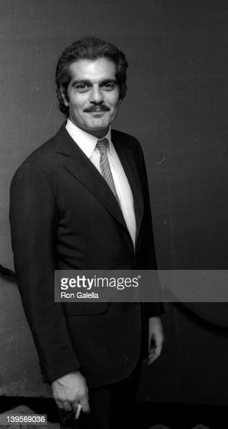 Actor Omar Sharif attends the premiere party for The Last Valley on August 14 1969 at the Dorchester Hotel in London England