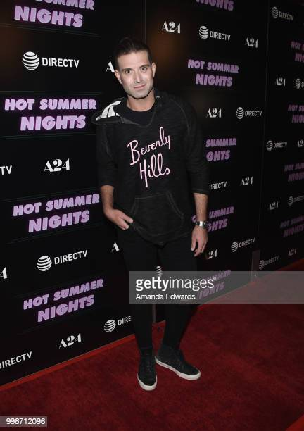 Actor Omar Sharif Jr arrives at the Los Angeles special screening of 'Hot Summer Nights' at the Pacific Theatres at The Grove on July 11 2018 in Los...