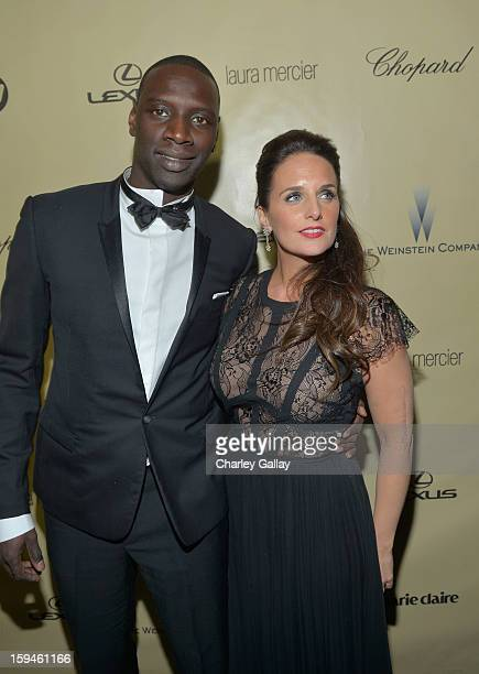 Actor Omar Sy and Helene Sy attend The Weinstein Company's 2013 Golden Globe Awards After Party presented by Chopard held at The Old Trader Vic's at...