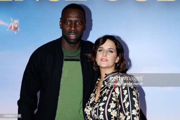 """Actor Omar Sy and his wife Helene Sy attend """"Le Prince Oublie"""" Paris Premiere at Le Grand Rex on February 02, 2020 in Paris, France."""