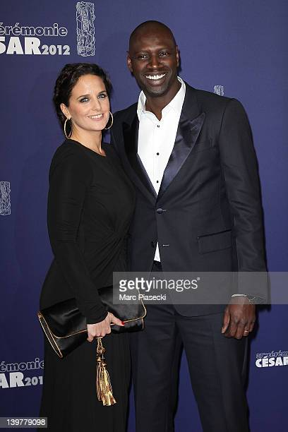 Actor Omar Sy and wife Helene attend the 37th Cesar Film Awards at Theatre du Chatelet on February 24, 2012 in Paris, France.