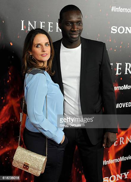 Actor Omar Sy and wife Helene Sy arrive at the screening of Sony Pictures Releasing's Inferno at DGA Theater on October 25 2016 in Los Angeles...