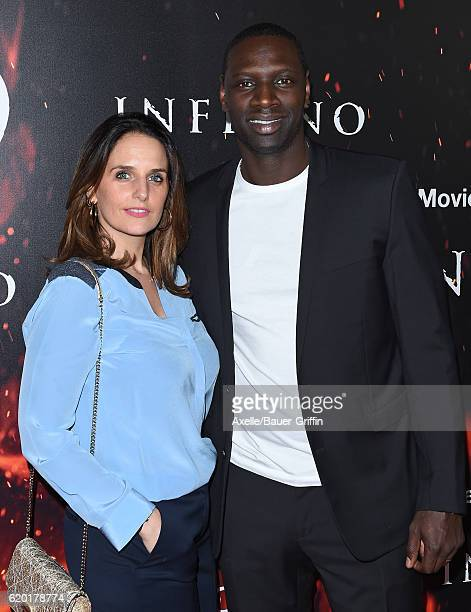Actor Omar Sy and wife Helene Sy arrive at the screening of Sony Pictures Releasing's 'Inferno' at DGA Theater on October 25 2016 in Los Angeles...