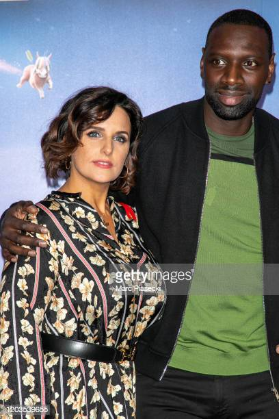 Actor Omar Sy and wife Helene Sy attend the 'Le Prince oublie' Premiere at Le Grand Rex on February 02, 2020 in Paris, France.