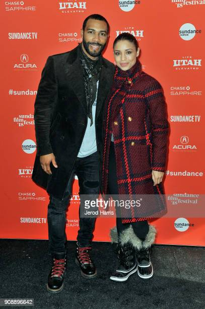 Actor Omari Hardwick and Brytni Sarpy attend the 'A Boy A Girl A Dream' Premiere during the 2018 Sundance Film Festival at Park City Library on...
