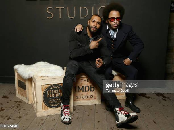 Actor Omari Hardwick and director Boots Riley of 'Sorry To Bother You' attend The IMDb Studio and The IMDb Show on Location at The Sundance Film...