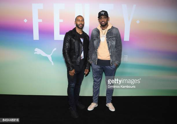 Actor Omari Hardwick and Fabolousattend the FENTY PUMA by Rihanna Spring/Summer 2018 Collection at Park Avenue Armory on September 10 2017 in New...