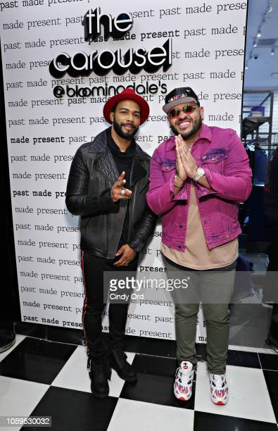 Actor Omari Hardwick and Mike Upscale Vandal Camargo attend as Bloomingdale's celebrates The Carousel Past Made Present on November 8 2018 in New...