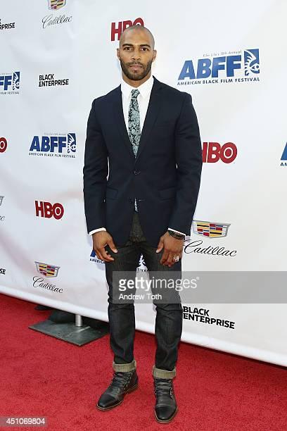 Actor Omari Hardwick attends 'Da Sweet Blood Of Jesus' world premiere during the 2014 American Black Film Festival at Metropolitan Pavilion on June...