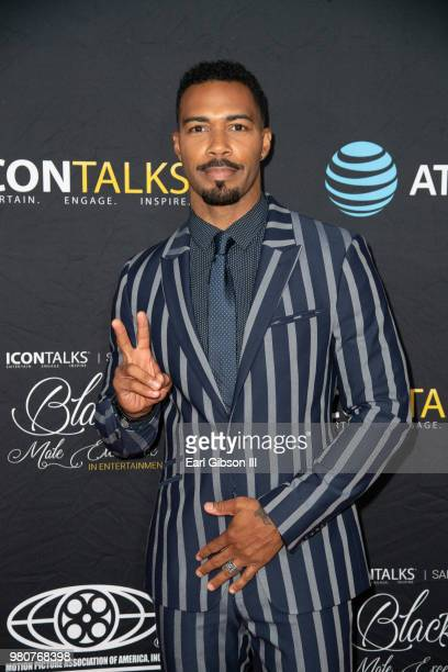 Actor Omari Hardwick attends ICON Talks And Motion Picture Association Of America Host Black Male Excellence at SLS Hotel on June 21 2018 in Beverly...