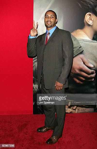 Actor Omari Hardwick attends the premiere of Miracle at St Anna at Ziegfeld Theatre on September 22 2008 in New York City